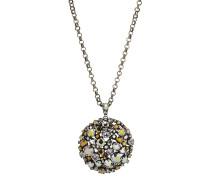Halskette Ballroom aus Metall mit Glassteinen
