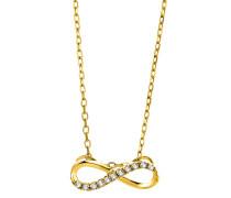 Halskette aus 375 Gold mit 0.054 Karat Diamanten