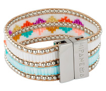 Armband Twinsblue aus Messing, Kunststoff & Stoff
