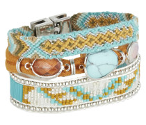 Armband Southfolk aus Metall, Kunststoff & Stoff