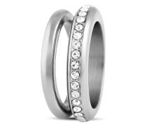 Ring Tiva aus Edelstahl mit Kristallen-57