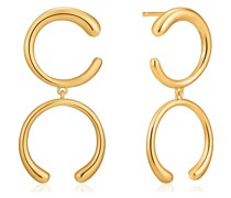 Ohrhänger Luxe Double Curve 925er Silber