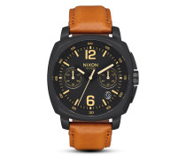 Chronograph Charger Leather A1073-2447-00 All Black / Light Brown