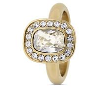 Ring Denas aus vergoldetem Edelstahl mit Swarovski-Steinen