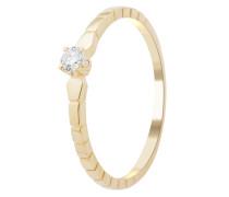 Ring aus 375 Gold mit 0.08 Karat Diamant-52
