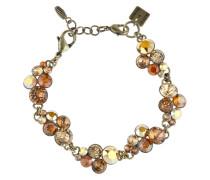 Armband Petit Glamour aus Metall mit Glassteinen