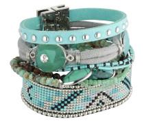 Armband Atlantis aus Metall, Kunststoff & Stoff