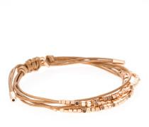 Armband Dainty Rondel aus Leder & Metall