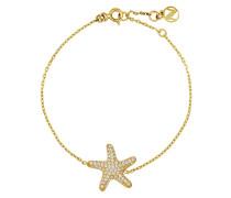 Armband Chain aus vergoldetem 925 Sterling Silber mit Zirkonia