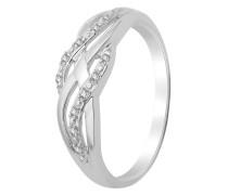 Ring aus 375 Weißgold mit Diamanten-52