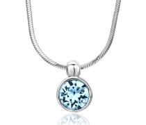 Halskette aus 925 Sterling Silber mit Swarovski-Stein
