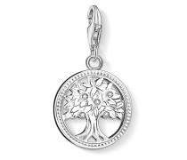 Charm Lebensbaum aus 925 Sterling Silber mit Zirkonia