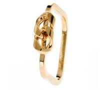 Ring Small Curb Messing vergoldet-55