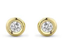 Ohrstecker aus 585 Gold mit 0.1 Karat Diamanten