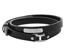 Armband Stacked aus Leder & Edelstahl