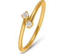 Damenring 2 Diamant