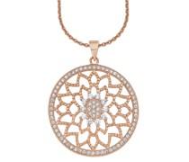 Halskette aus rosévergoldetem 925 Sterling Silber mit Zirkonia