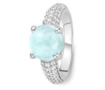 Ring aus 925 Sterling Silber mit Zirkonia & Kristall-50