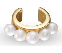 Einzelner Ohrschmuck Ear Cuff 925er Silber 5 Perle