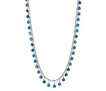 Halskette Katerfalls aus Metall mit Glassteinen