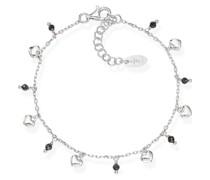 D-Armband 925er Silber 8 Glasstein