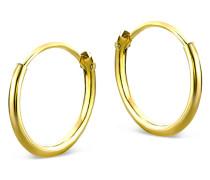 Creolen aus 585 Gold | Durchmesser 13 mm | Stärke 1,3 mm