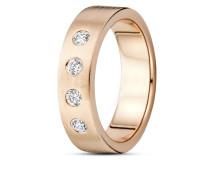 Ring aus rosévergoldetem 925 Sterling Silber mit Zirkonia-52