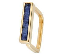Ring aus vergoldetem 925 Sterling Silber mit Dumortierit-48