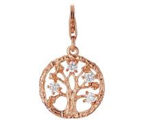 Charm aus rosévergoldetem 925 Sterling Silber mit Zirkonia