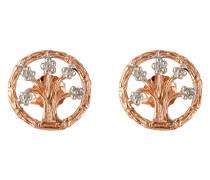 Ohrstecker Lebensbaum aus rosévergoldetem 925 Sterling Silber