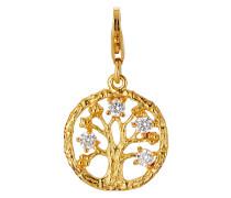Charm aus vergoldetem 925 Sterling Silber mit Zirkonia