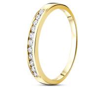 Ring aus 585 Gold mit 0.20 Karat Diamanten-56