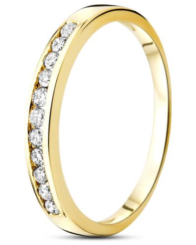 Ring aus 585 Gold mit 0.20 Karat Diamanten-52