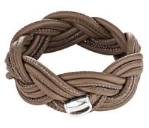 Armband aus 925 Sterling Silber & Leder