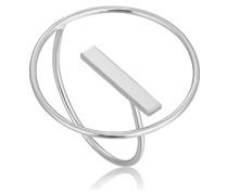 Damenring Modern Circle Adjustable Ring 925er Silber