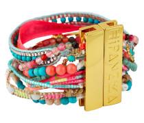 Armband Fiesta aus Kunstperlen & Stoff