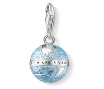 Charm Weltkugel 925 Sterling Silber