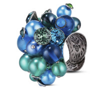Ring Caviar de Luxe aus Metall mit Glassteinen