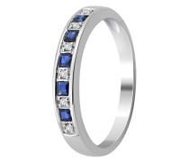 Ring aus 375 Weißgold mit Diamanten & Saphiren-52