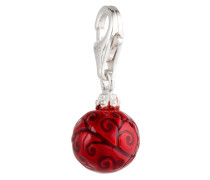 Charm Christbaumkugel rot 925 Sterling Silber