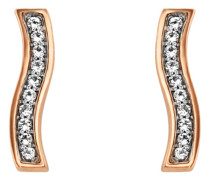 Ohrstecker Sensitive Dancer aus rosévergoldetem 925 Sterling Silber mit Topasen