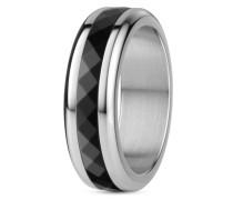 Ring Gulkana aus Edelstahl und Keramik-55