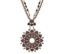 Halskette Mandala aus Metall mit Glassteinen