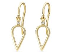 Ohrhänger aus 375 Gold mit Diamanten