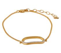 Armband aus vergoldetem 925 Sterling Silber mit Kristallen