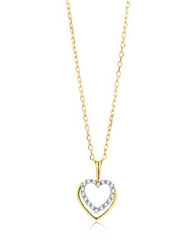 Halskette aus 375 Gold mit 0.07 Karat Diamanten