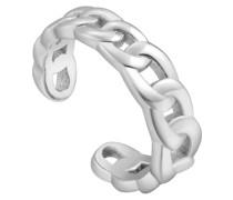 Einzelner Ohrschmuck Curb Chain Ear Cuff 925er Silber