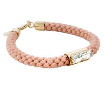 Armband aus Stoff & Metall mit Kristall