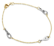 Armband aus 375 Bicolor-Gold