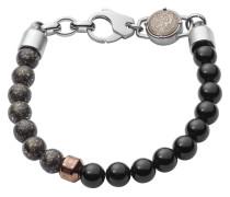 Armband Bead aus Edelstahl & Karbon mit Onyxen